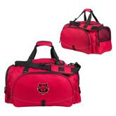 Challenger Team Red Sport Bag-Red Wolf Head