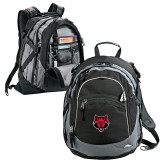 High Sierra Black Fat Boy Day Pack-Red Wolf Head