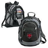 High Sierra Black Titan Day Pack-Red Wolf Head