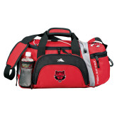 High Sierra Red/Black Switch Blade Duffel-Red Wolf Head