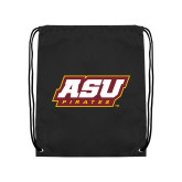 Black Drawstring Backpack-ASU Pirates