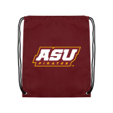 Maroon Drawstring Backpack-ASU Pirates