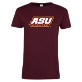 Ladies Maroon T Shirt-ASU Pirates
