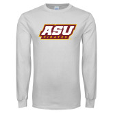 White Long Sleeve T Shirt-ASU Pirates