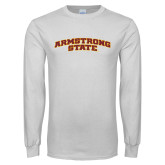 White Long Sleeve T Shirt-Arched Armstrong State