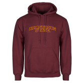 Maroon Fleece Hoodie-Arched Armstrong State