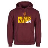 Maroon Fleece Hoodie-Pirates Nation