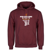 Maroon Fleece Hoodie-Armstrong State Basketball w/ Net