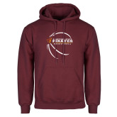 Maroon Fleece Hoodie-Armstrong State Basketball w/ Countour Lines