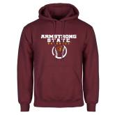 Maroon Fleece Hoodie-Armstrong State Baseball w/ Ball
