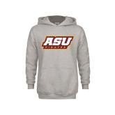 Youth Grey Fleece Hood-ASU Pirates