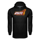 Under Armour Black Performance Sweats Team Hoodie-Official Logo