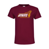 Youth Maroon T Shirt-Official Logo