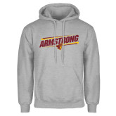 Grey Fleece Hoodie-Slanted Armstrong w/ Pirate