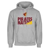 Grey Fleece Hoodie-Pirates Nation