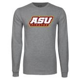 Grey Long Sleeve T Shirt-ASU Pirates