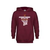 Youth Maroon Fleece Hoodie-Armstrong State Basketball w/ Net