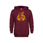 Youth Maroon Fleece Hoodie-Athletic Hall of Fame