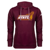 Adidas Climawarm Maroon Team Issue Hoodie-Official Logo