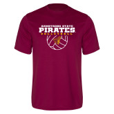 Performance Maroon Tee-Armstrong State Pirates Volleyball w/ Ball