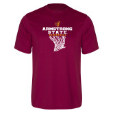 Performance Maroon Tee-Armstrong State Basketball w/ Net