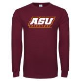 Maroon Long Sleeve T Shirt-ASU Pirates