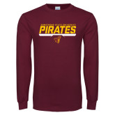 Maroon Long Sleeve T Shirt-Armstrong State University Pirates