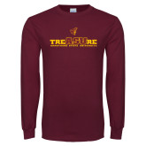 Maroon Long Sleeve T Shirt-Armstrong State University Treasure