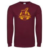 Maroon Long Sleeve T Shirt-Athletic Hall of Fame