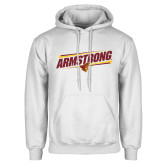 White Fleece Hoodie-Slanted Armstrong w/ Pirate