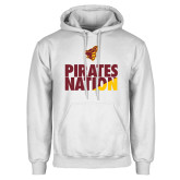 White Fleece Hoodie-Pirates Nation