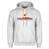 White Fleece Hoodie-Armstrong State University Treasure