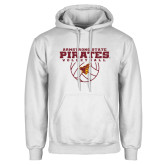 White Fleece Hoodie-Armstrong State Pirates Volleyball w/ Ball