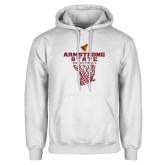 White Fleece Hoodie-Armstrong State Basketball w/ Net