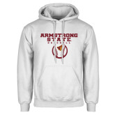 White Fleece Hoodie-Armstrong State Baseball w/ Ball