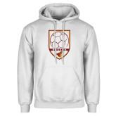 White Fleece Hoodie-Soccer Shield w/ Pirate Head