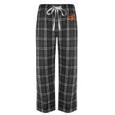 Black/Grey Flannel Pajama Pant-Pirate Head