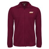 Fleece Full Zip Maroon Jacket-ASU Pirates