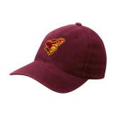 Maroon OttoFlex Unstructured Low Profile Hat-Pirate Head