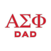 Dad Decal-Greek Letters, 6 inches wide