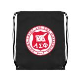 Black Drawstring Backpack-Seal