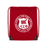 Red Drawstring Backpack-Seal
