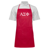 Full Length Red Apron-Greek Letters