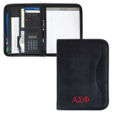 Insight Black Calculator Padfolio-Greek Letters