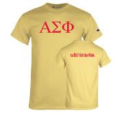 Champion Vegas Gold T Shirt-Greek Letters