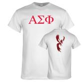 White T Shirt-Greek Letters