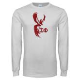 White Long Sleeve T Shirt-Phoenix w/ Greek Letters