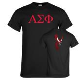 Black T Shirt-Greek Letters