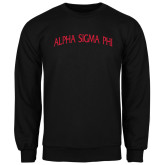 Black Fleece Crew-Alpha Sigma Phi Arch