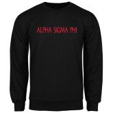 Black Fleece Crew-Alpha Sigma Phi Flat